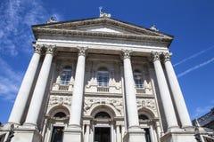 Tate Britain in London. The impressive facade of the Tate Britain Art Gallery in London Stock Photography