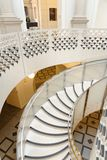 Tate Britain Spiral Staircase. Architectural Patters. Classic Pillars Royalty Free Stock Image