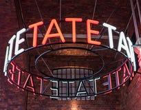 Tate Gallery Sign. LIVERPOOL, UNITED KINGDOM - JANUARY 91, 2016 - Tate Liverpool Art Gallery sign at Albert Dock, Liverpool, Merseyside, England, UK, Western Royalty Free Stock Photos
