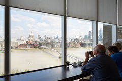 Tate Modern Art Gallery cafe interior with people Stock Photography