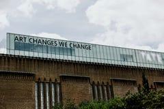Tate Modern Art Gallery London, England arkivfoto