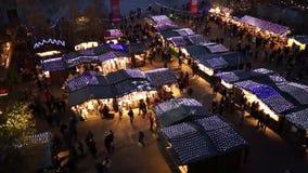 Tate Modern Christmas Market stock footage