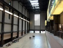Tate Modern - the former turbine hall of power station Stock Photos