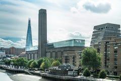 Tate Modern galeria po odbudowy 2016 Zdjęcie Stock