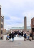 Tate Modern and millenium bridge. Royalty Free Stock Photo