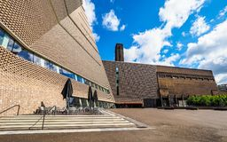 Tate Modern Tavatnik Building in Londen, hdr stock foto's