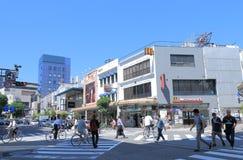 Tatemachi som shoppar område Kanazawa Japan Royaltyfria Bilder