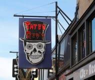 Tater红色的蓝色咖啡馆, Beale街孟菲斯,田纳西 免版税库存照片