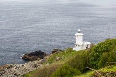 Tater du lighthouse in cornwall england uk Royalty Free Stock Photos