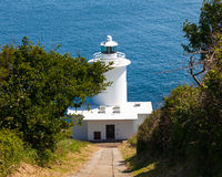 Tater Du Lighthouse Cornwall Stock Photo