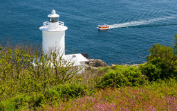 Tater Du Lighthouse Cornwall Stock Image