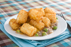 Tater Tot Casserole Plate Royalty Free Stock Photography