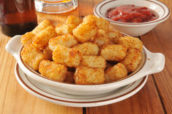 Tater tots as a bar snack Royalty Free Stock Photo