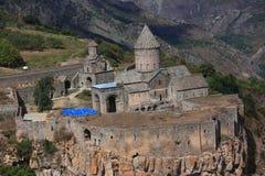 Tatev修道院在亚美尼亚南部 库存照片