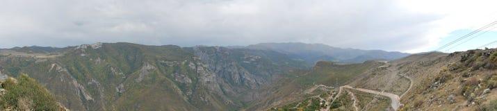 从Tatev,亚美尼亚的全景图片 图库摄影