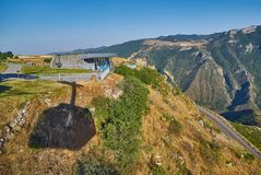 TATEV,亚美尼亚- 2017年8月02日:Tatev翼,最长的缆绳C 免版税库存照片