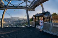 TATEV,亚美尼亚- 2017年8月02日:Tatev翼,最长的缆绳C 库存图片