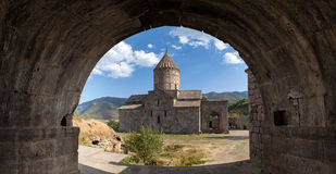 Tatev in Armenia. View of the ancient Christian temple Tatev in Armenia stock photography