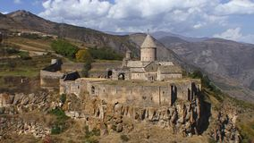 Tatev monastery. Tatev is the famous monastery in Armenia stock footage