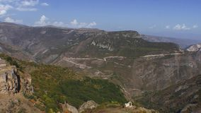Tatev monastery panorama. Tatev is the famous monastery in Armenia stock video footage