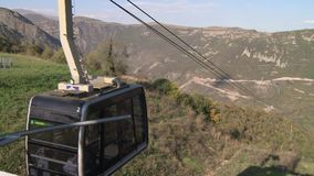 Tatev ropeway in Tatev. Armenia stock footage