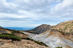Tateyama im Herbst Mt Dainichidake und Murodo Lizenzfreie Stockfotos