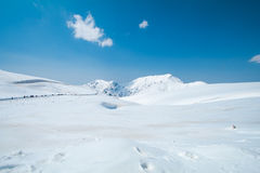 Tateyama Kurobe Alpine Route the snow mountains wall Stock Images