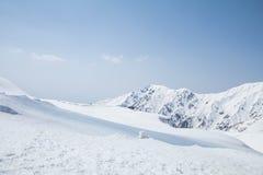 Tateyama Kurobe Alpine Route the snow mountains wall Royalty Free Stock Photography