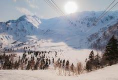 Tateyama Kurobe Alpine Route the snow mountains wall Royalty Free Stock Image