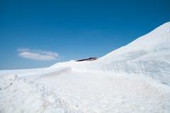 Tateyama Kurobe Alpine Route the snow mountains wall Stock Photography
