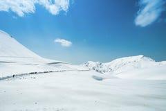 Tateyama Kurobe Alpine Route the snow mountains wall Stock Photo
