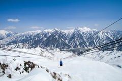 Tateyama Kurobe Alpine Route the snow mountains wall Royalty Free Stock Images