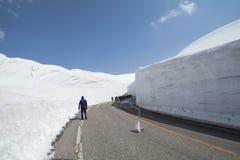 Tateyama Kurobe Alpine Route the snow mountains wall Stock Image