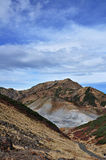 Tateyama w jesieni Mt Dainichidake i Murodo Zdjęcie Royalty Free