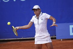 Tathiana Garbin in WTA Prague tournament Royalty Free Stock Photos