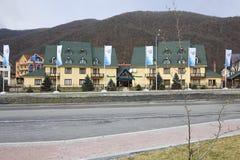 Tatiana Hotel in Gorky Gorod resort Stock Photos