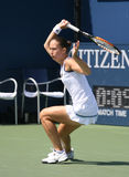 Tatiana Perebiynis of Ukraine, Forehand Stock Images