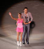 Tatiana Volosozhar en Stanislav Morozov (UKR) stock foto