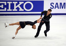 Tatiana Volosozhar und Stanislav Morozov (UKR) Lizenzfreies Stockbild