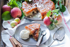 Tatin της Apple tarte Στοκ φωτογραφία με δικαίωμα ελεύθερης χρήσης