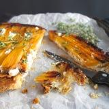 Tatin del tarte della carota Immagine Stock Libera da Diritti