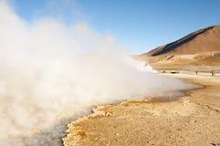 tatio гейзера поля Чили el Стоковые Изображения