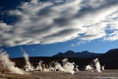 tatio гейзера поля el Область Антофагасты Чили Стоковые Фотографии RF