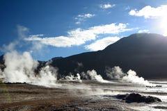 tatio гейзера поля el Область Антофагасты Чили Стоковые Фото