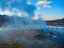 Tatio d'EL de gisement de geyser près de piment de San Pedro de atacama Image stock