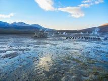 Tatio d'EL de gisement de geyser près de piment de San Pedro de atacama Image libre de droits