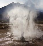 tatio för chile el fältgeyser Fotografering för Bildbyråer