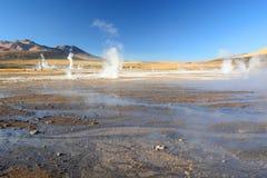 tatio för el-fältgeyser Antofagasta region chile Royaltyfri Bild