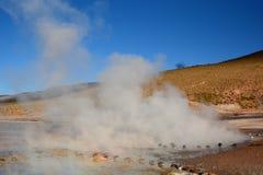 tatio för el-fältgeyser Antofagasta region chile Arkivfoto