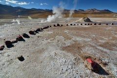 tatio för el-fältgeyser Antofagasta region chile Arkivbilder
